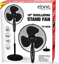 16' Oscillating Stand Fan Indoor Round Base 3