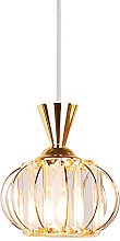 16 cm Crystal Pendant Light Modern Lantern Design
