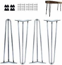 """16"""" Hairpin Raw Steel Table Legs Unfinished"""