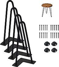 16 Inch Hairpin Furniture Legs with Rubber Floor