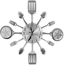 16 Inch Large Kitchen Wall Clocks with Spoons and