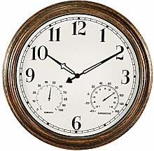 16 Inch Large Outdoor Wall Clock,Waterproof