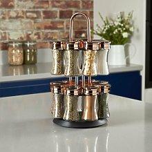 16-Jar Free-Standing Spice Rack Tower