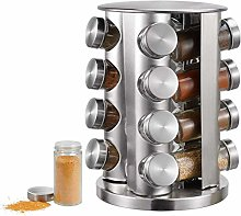 16-Jar Revolving Countertop Spice Rack Organizer,