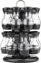 16 Jar Rotating Spice Rack Carousel Kitchen