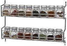 16-Jar Wall Mounted Spice Rack Symple Stuff