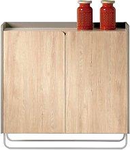 16 Pair Shoe Storage Cabinet Ebern Designs Finish: