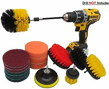 16 Pc Drill Brush Attachment Set, Scrubbing Pads