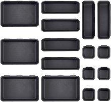16 Pcs Desk Drawer Organizer Set 3-Size Trays
