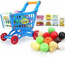 16 Pcs Shopping Carts Toy Fruit Vegetable Pretend