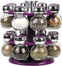16 REVOLVING Plastic Kitchen Spice Rack Stand
