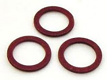 16 x Imperial Red Fibre Washers 1/4 inch ID x 3/8