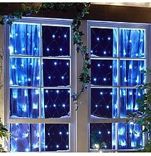 160 Net Curtain Led Indoor/Outdoor White Christmas