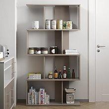 165cm Bookcase Mercury Row Colour: Taupe