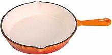 16CM orange ceramic cast iron mini omelette pan,