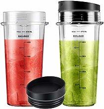 16oz Blender Cups with Sip Lids (2-pack)