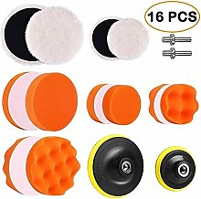 16Pcs 3 Inch Car Polishing Waxing Sponge Pad