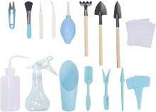 16PCS Blue Succulent Transplant Tool Kit Set of