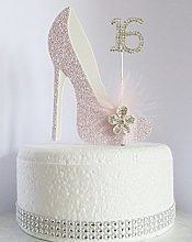 16th Pink and White Birthday Cake Decoration Shoe