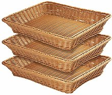 "17.7"" Poly-Wicker Bread Basket,Woven Tabletop"