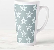 17 oz. Coffee Mug, Duck Egg Blue and White Star