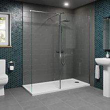 1700 x 700mm Walk In Shower Enclosure 1100mm &