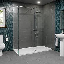 1700 x 800mm Walk In Shower Enclosure 1100mm &