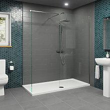 1700 x 800mm WalkIn Shower Enclosure 1000 800mm