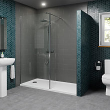 1700x700mm Walk In Shower Enclosure 1000mm Screen