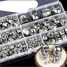 172pcs DIN1587 Acorn Nut Set M3-M12 A2-70 304