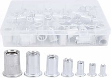 175pcs Rivet Nut Set, Galvanized Flat Head,