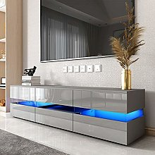 177CM Large TV Unit Stand Cabinet High Gloss