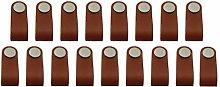 17pcs Cabinet Handles Handmade Leather Dresser