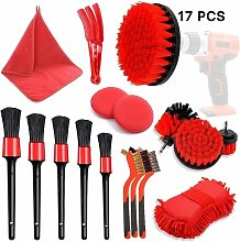17Pcs Car Detailing Brushes Kit Auto Car Cleaning