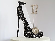 17th Birthday Cake Decoration Shoe (Star Design in