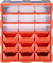 18 Multi Drawer Parts Storage Cabinet Unit