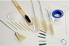18 Pc Piece Paint Spray Gun Cleaning Parts Kit Air
