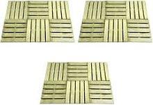 18 pcs Decking Tiles 50x50 cm Wood Green