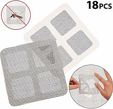 18 Pieces 3.93×3.93 Inches Window Screen Repair