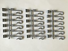 18 x Grey Replacement Shower Curtain Hooks for