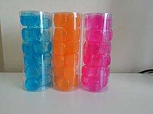 18 x Plastic Reusable Ice Cubes Coloured Party