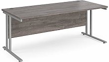 1800mm Straight Office Desk Grey Oak