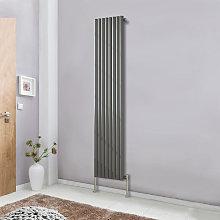 1800x472 Oval Column Designer Radiator Bathroom