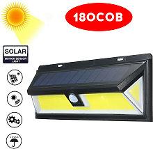 180COB Solar Energy Wall Lamp Motion Sensor