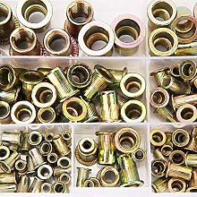 180pcs M3-M10 Rivet Nut Assortment Kit Zinc Plated