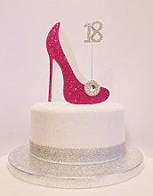 18th Birthday Cake Decoration Cerise Pink & White