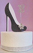 18th Birthday Cake Decoration Shoe (Black & White)
