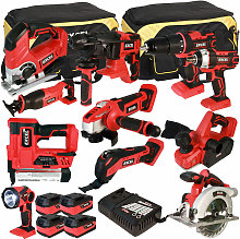 18V Cordless 11 Piece Tool Kit with 4 x 5.0Ah