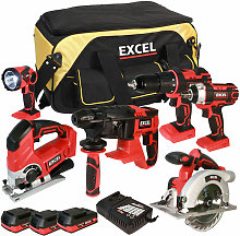 18V Cordless 6 Piece Tool Kit with 3 x 2.0Ah