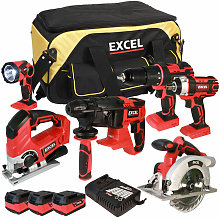 18V Cordless 6 Piece Tool Kit with 3 x 5.0Ah